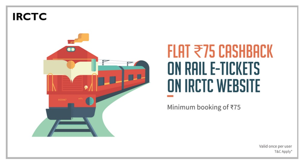 IRCTC Freecharge cashback Offer